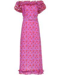 Gül Hürgel - Floral-printed Linen Dress - Lyst