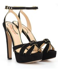 Charlotte Olympia - It Girl Plateau Suede Sandals - Lyst