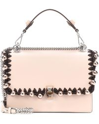 Fendi - Kan I Leather Shoulder Bag - Lyst