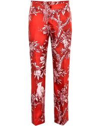 F.R.S For Restless Sleepers - Tartaro Printed Silk Pyjama Trousers - Lyst