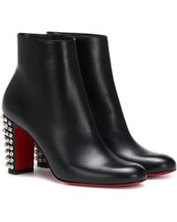 Christian Louboutin - Suzi Folk 85 Leather Ankle Boots - Lyst