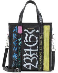 Balenciaga - Bazar Xs Printed Leather Shopper - Lyst