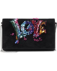 Christian Louboutin - Paloma Love Suede Clutch Bag - Lyst