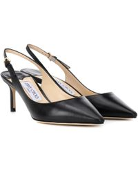 2249aff7f29 Jimmy Choo Dahlia Patent Leather Peep-Toe Pumps in Black - Lyst