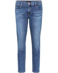 J Brand - Sadey Mid-rise Straight Jeans - Lyst