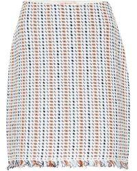 Tory Burch - Hollis Linen And Cotton-blend Skirt - Lyst