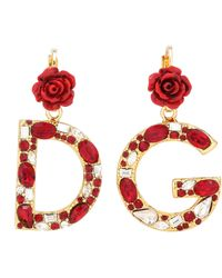 Dolce & Gabbana - Crystal-embellished Clip-on Earrings - Lyst