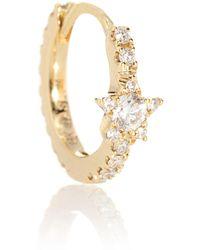 Maria Tash - Pendiente único de oro de 18 ct con diamantes Diamond Star Eternity - Lyst