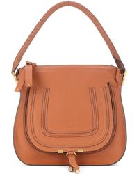Chloé - Marcie Medium Hobo Leather Shoulder Bag - Lyst 41c6306cd7