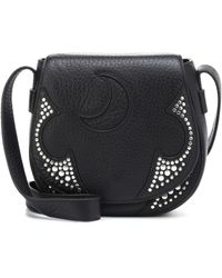 McQ - Studded Leather Shoulder Bag - Lyst