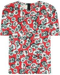 Marni - Printed Cotton-blend Top - Lyst