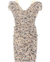 Étoile Isabel Marant - Bedrucktes Kleid Topaz aus Leinen - Lyst