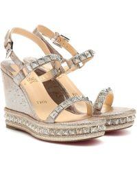 chaussures décontractées info pour chaussures élégantes Sandales compensées Pyradiams 100 à ornements - Métallisé