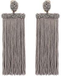 Oscar de la Renta - Clip-on Tassel Earrings - Lyst