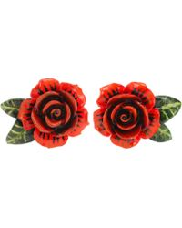 Dolce & Gabbana - Rose Resin Earrings - Lyst