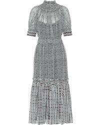 Proenza Schouler - Printed Silk Midi Dress - Lyst