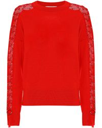 Jonathan Simkhai - Verzierter Pullover aus Wolle - Lyst