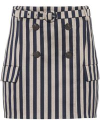 Jonathan Simkhai - Striped Belted Skirt - Lyst