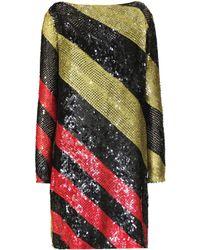Sonia Rykiel - Sequined Striped Knitted Mini Dress - Lyst