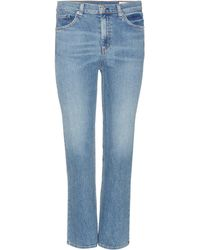 Rag & Bone - Stove Pipe Cropped Jeans - Lyst