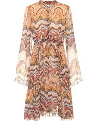 Chloé - Exclusive To Mytheresa. Com – Printed Silk-crepon Dress - Lyst