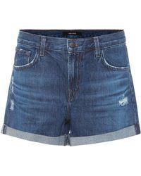 J Brand - Distressed Denim Shorts - Lyst