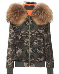 Mr & Mrs Italy | Camouflage Fur-trimmed Coat | Lyst