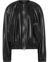 Rochas - Leather Bomber Jacket - Lyst