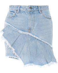 GRLFRND - Giselle Denim Miniskirt - Lyst
