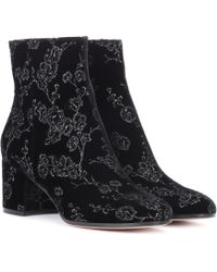 Gianvito Rossi - Exclusive To Mytheresa.com– Margaux Velvet Ankle Boots - Lyst