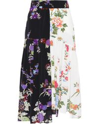 Isabel Marant - Inaya Floral-printed Silk Skirt - Lyst