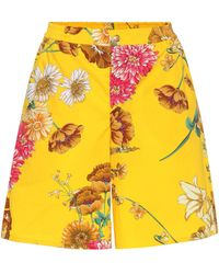 Gucci - Shorts de algodón estampado floral - Lyst