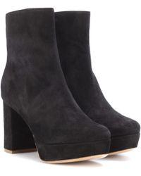Mansur Gavriel | Suede Plateau Ankle Boots | Lyst
