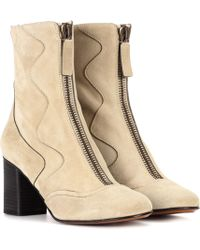 Chloé - Exclusive To Mytheresa. Com – Suede Ankle Boots - Lyst