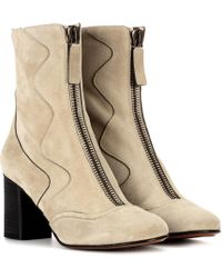 Chloé - Exclusive To Mytheresa.com – Suede Ankle Boots - Lyst
