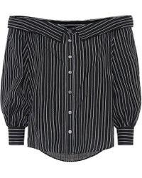 Veronica Beard - Brita Striped Linen-blend Top - Lyst