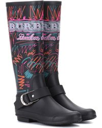 Burberry - Doodle Printed Rubber Boots - Lyst