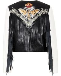 Étoile Isabel Marant - Kirk Embroidered Leather Jacket - Lyst