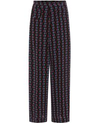 Etro - Printed Silk Culottes - Lyst