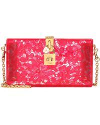 Dolce & Gabbana - Dolce Box Lace Clutch - Lyst
