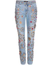 Dolce & Gabbana - Verzierte Boyfriend-Jeans - Lyst