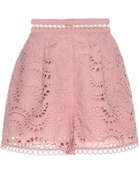 Zimmermann - Exclusive To Mytheresa. Com – Embroidered Cotton Voile Shorts - Lyst