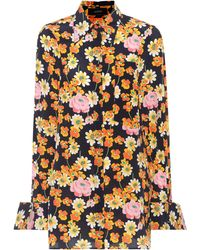 JOSEPH - Cassidy Floral-printed Silk Shirt - Lyst