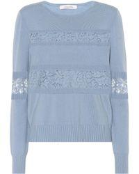 Dorothee Schumacher - Lace Embrace Wool-blend Sweater - Lyst