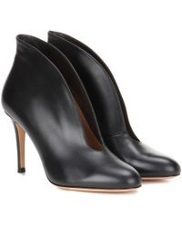 Gianvito Rossi - Vamp 85 Leather Ankle Boots - Lyst