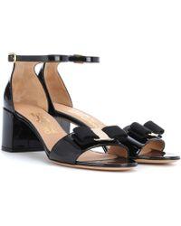 Ferragamo - Gavina Patent Leather Sandals - Lyst