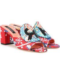 Rochas - Beaded Jacquard Sandals - Lyst