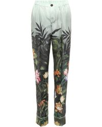 F.R.S For Restless Sleepers - Ceo Printed Silk Trousers - Lyst