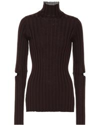 Helmut Lang - Dolcevita a costine in cotone - Lyst