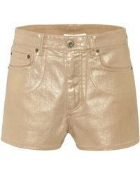 Chloé - Exclusive To Mytheresa. Com – Coated Denim Shorts - Lyst